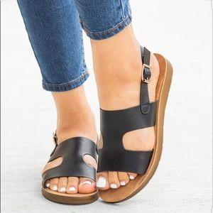 New comfy sling back sandals